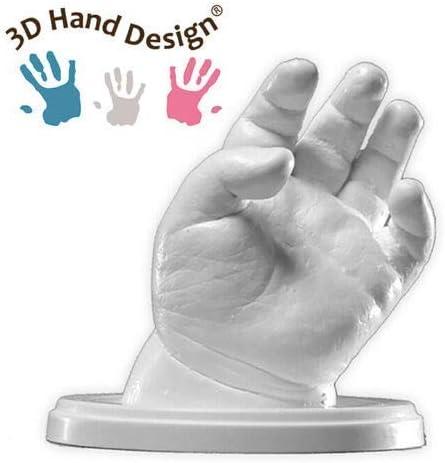 Lucky Hands® Huellas en 3D | Improntas mano | Idea de regalo para el Día de la Madre (D: 7-48 meses | con accesorios, 4-6 moldes)