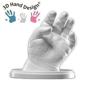 Lucky Hands® Kit per Impronte 3D   per stampi di mani   Idea regalo Festa della mamma (0-6 mesi   senza accessori, 2-3… 41ObNukYGlL. SS300