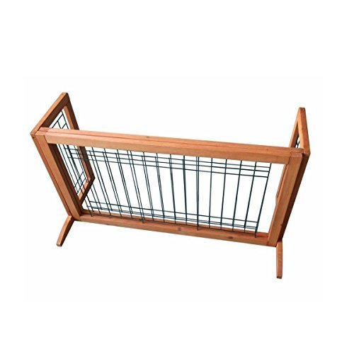 Adjustable Solid Wood Construction Freestanding Pet Gate Fence Dog Gate Indoor by Everyday Big Deal (Image #3)