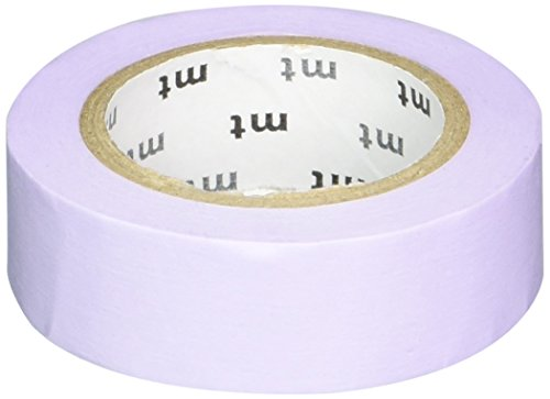 MT Washi Masking Tape, 1P Basic, 15mm x 10m, Pastel Purple (MT01P305)