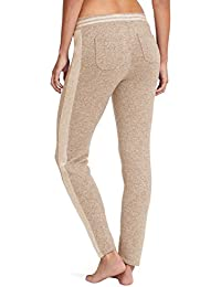 Layover Cashmere Pants, Taupe Stipe