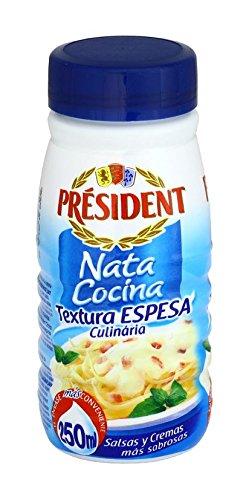 Président - Nata Ligera Semi Espesa para Cocinar, 250 ml: Amazon.es: Alimentación y bebidas