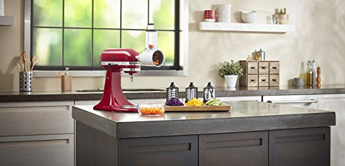 KitchenAid KSMVSA Gemüseschneider für die Küchenmaschine plastic white