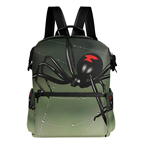 LORVIES Black Widow Spider School Rucksack Travel Backpack
