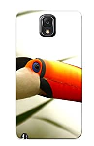 LJF phone case Galaxy Note 3 Case, Premium Protective Case With Awesome Look - Animals National Geographic Branches Brazilian Toucans Birds