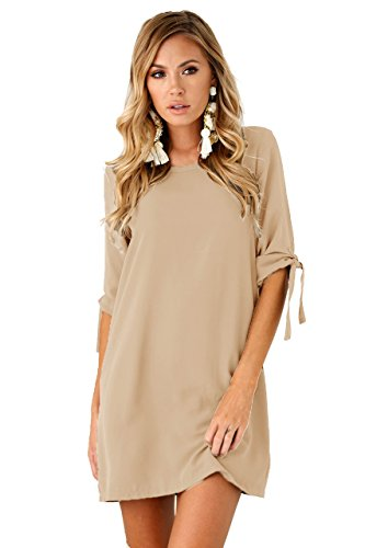 Womens Bowknot Half Sleeve Summer Cocktail Casual Mini Dress