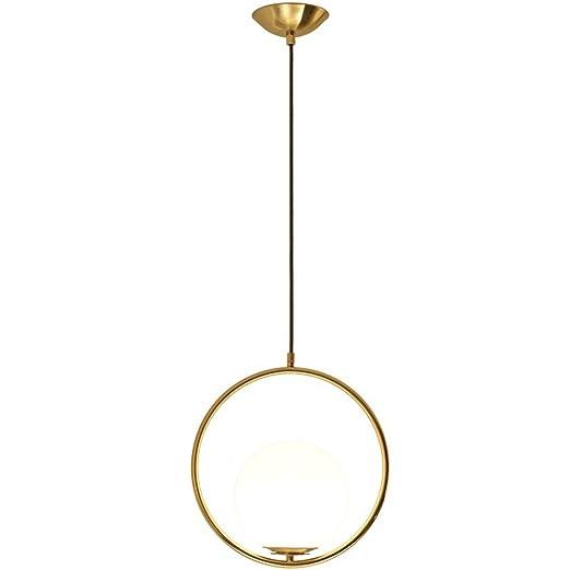 Moderne Créative Lampe Suspension Boule Design Laiton Luminaire