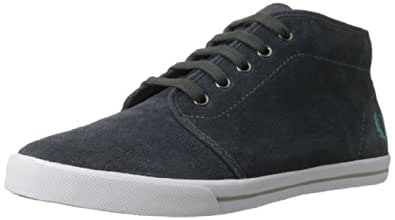 Fred Perry Men's Fletcher Suede Chukka Boot,Charcoal/Nile,6 UK/7 M US