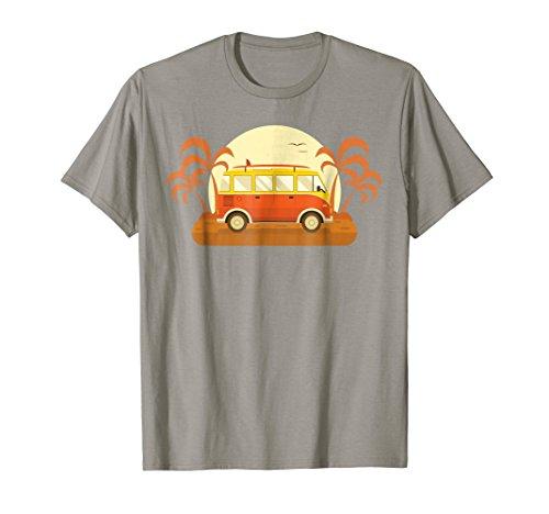 Vintage Camper Van with Surf Board T-Shirt