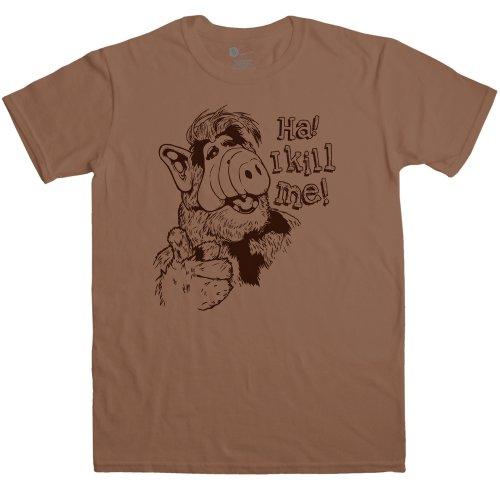 Mens T Shirt - I Kill Me - Chestnut - -