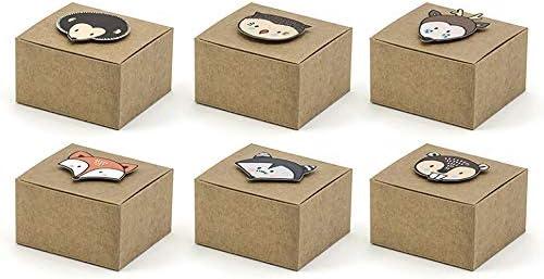 6X Caja Pequeña Papel Bolsas para Peladillas Habana con Animales la Bosque Detalle: Amazon.es: Oficina y papelería