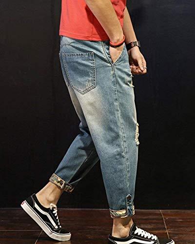 Hombres Clubwear Vaqueros Los Chicos Elásticos Los Clásico Para Pantalones Hombres Sueltos Hellblau De Ocio Vaqueros Mezclilla Pantalones Vaqueros Ajustados De Pantalones Pantalones De Pantalones Pantalones De BwgZFfqtqx