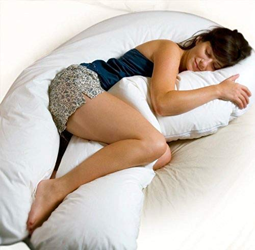 U Body Comfort Support Pillow (Moonlight Slumber - Comfort U Total Body Support Pillow - White (Full Size))