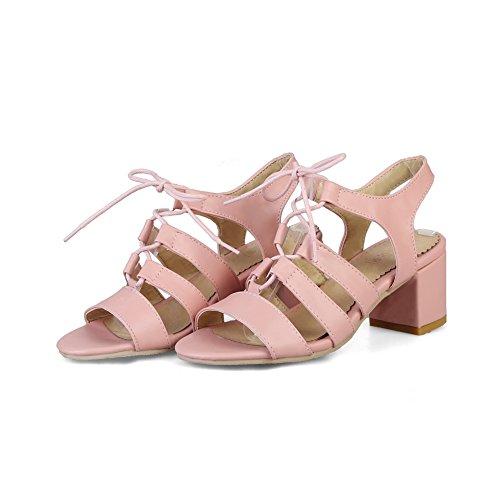 BalaMasa Womens Mini-Size Solid Urethane Sandals ASL05088 Pink nKKT6UqQR