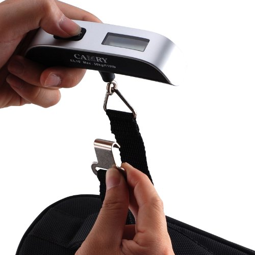 Camry 110 Lbs Luggage Scale with Temperature Sensor and Tare Function Gift For Traveler, Silver, One Size