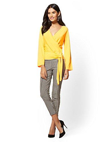 New York & CO. Women's 7Th Avenue - Wrap Sweater Large Delightful Daisy