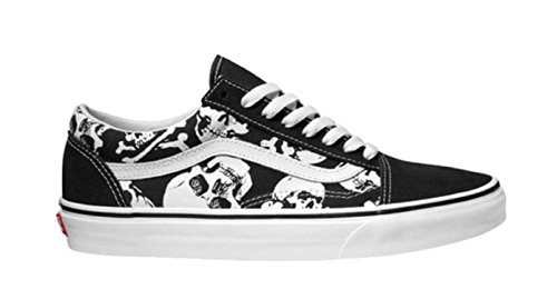 Vans Skulls Old Skool Unisex Mens Skateboarding-Shoes VN-0A38G1H0B_11 - Black/White by Vans