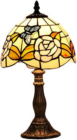 Tiffany Genuine Stained Glass Table Lamp