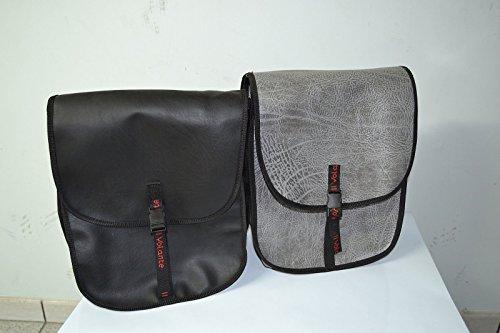 Taschen Tasche Brot Tasche Rucksack für Gepäckträger hinten grau schwarz braun