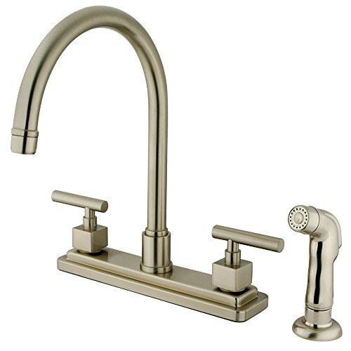 kingston-brass-ks8798cql-claremont-kitchen-faucet-with-abs-sprayer-8-inch-satin-nickel-by-kingston-b