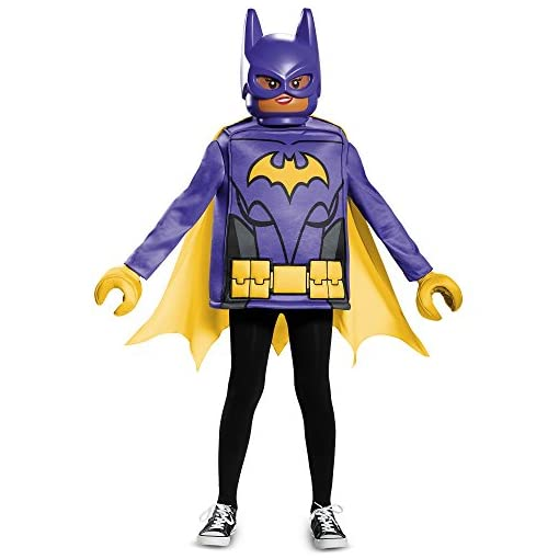 Disguise Batgirl Lego Movie Classic Costume, Black, Large (10-12)