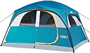 UNP Tents 6 Person Waterproof Windproof Easy Setup,Double Layer Family Camping Tent with 1 Mesh Door & 5 L