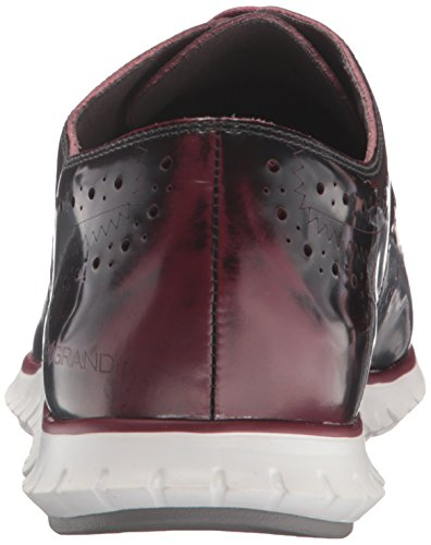 Leather Wing 5 White 6 Optic Women's UK Zerogrand Brush Oxford Cole Haan Off Zinfandel Red wY07An6wtx