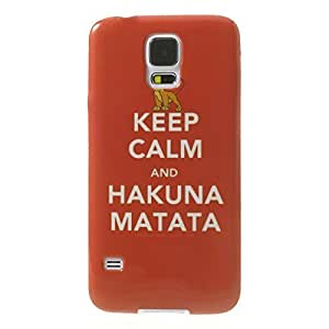 JUJEO Quote Keep Calm and Hakuna Matata for Samsung Galaxy SV G900 IMD pc hard Shell Cover - Retail Packaging - Multi Color