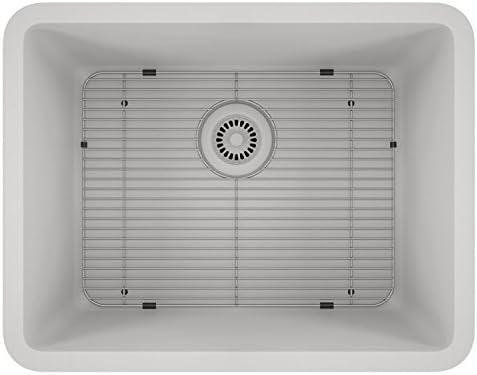 Lexicon Platinum Quartz Composite Kitchen Sink – Medium Single Bowl LP-2318 White