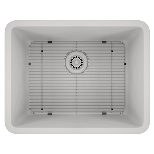 Lexicon Platinum Quartz Composite Kitchen Sink – Medium Single Bowl LP-2318 White