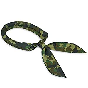N-rit Cooling Scarf. Wrap a Soaked Tie Around Neck Head to Instantly Chill Out. Crystal Polymer Technology Keeps Cool & Reusable. Great Summer, Outdoor Activities & Sports. [Military Camo]
