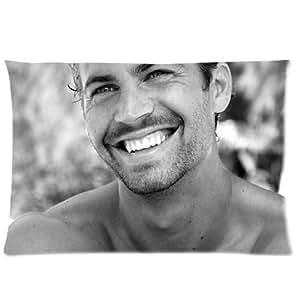 Custom Paul Walker Pillowcase Cushion Cover Design Standard Size 20X30 Two Sides