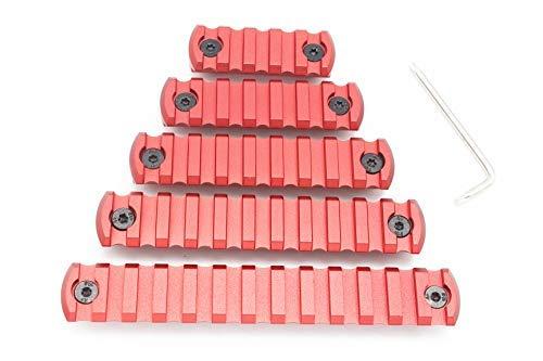 9 Slot M-lok Picatinny Rail Lightweight Aluminum Weaver Rail Section Red for Mlok Rail System by Active-8