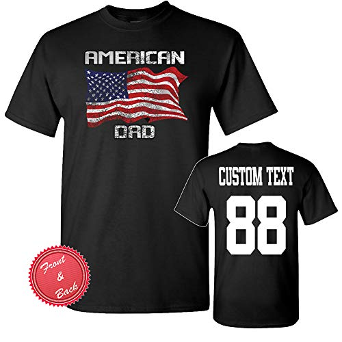 - American Dad custom Father shirt fathers day shirt gift for dad shirt Tees jersey personalized