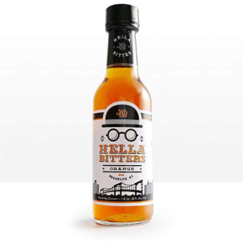 Hella Cocktail Co. | Orange Bitters, 5 oz | Craft Cocktail Bitters Made with Real Fruit Peel and Whole Spices|Perfect for Holiday Cocktail Recipes
