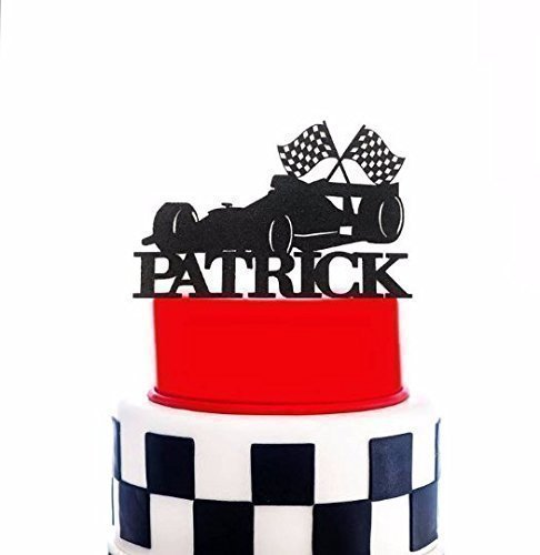 Formula 1 Race Car Cake Topper, Ferrari Custom Name Topper, Formula One Topper, Race Car Cake Topper, Racing Topper, Car Birthday - Ferrari Customize Your