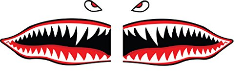 Tigers Decals Flying - Flying Tigers Shark Teeth Decals Stickers Multiple Sizes! (6