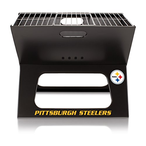 NFL Pittsburgh Steelers Portable Collapsible Charcoal X-Grill from Picnic Time (Sports)