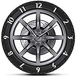 JYDD Wheel Tire Wall Clocks, Auto Car Vintage Tire Wheel Wall Clock, Car Service Repair Garage Cool Mechanic Wall Clock for Car Repair Shop