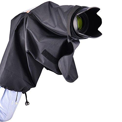 - JJC RC-DK Rain Coat Cover Waterproof Dustproof Tripod Mountable For Nikon D40 D40X D60 D70 D70S D80 D90 D100 D200 D300 D300s D600 D610 D750 D3000 D3100 D3200 D3300 D5000 D5100 D5200 5300 D7000 D7100 D810 FM10 F55 F65 F80 Camera