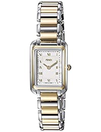 Fendi Women's 'Classico Rect' Swiss Quartz Two and Stainless Steel Dress Watch, Color:Silver-Toned (Model: F701124000)