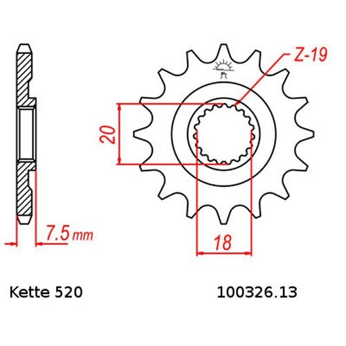 13 // 51 Kette DID 520 L114 Kettensatz Honda CR 125 R 87-96 offen