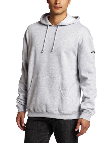 Asics Men's Fleece Hoodie, Heather Grey, Large
