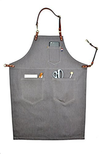VANORIG Professional Grade Chef Apron for Kitchen BBQ Painting Grill and Cafe with Towel Loop + Tool Pockets + Quick Release Buckle (c, M)