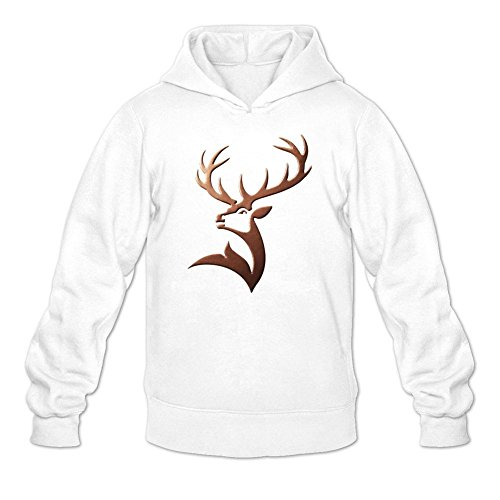 Niceda Men's Glenfiddich Deer Long Sleeve Sweatshirts Hoodie ()