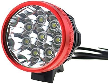 Bombilla 8 Luces T6 Foco LED Luces de Bicicleta Faros Bicicleta de montaña Luz Delantera de Bicicleta: Amazon.es: Electrónica