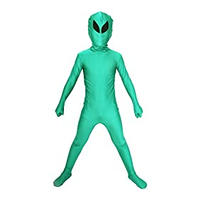 - 41ObXn7LfJL - Halloween Costume ET Dress Up Alien Kids Zentaisuit Adult Lycra Spandex Bodysuit