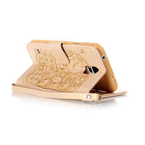 para 6 PU teléfono Cover PC marrón S5 silicona nbsp;pulgadas Carcasa Painted de smartphone cubierta 4 nbsp;Mini Galaxy Samsung Funda De 13 Polvo de Case Carcasa 5 móvil Piel Caso Shell Conector qxwqtATr