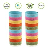 Chatham Mosquito Repellent Bracelet Reusable Indoor & Outdoor Insect Bug Repellent Bracelet,Natural Bug Repellent Mosquito Control Barrier Mosquito Repellent for Kids,Babies and Adults 20 Pack