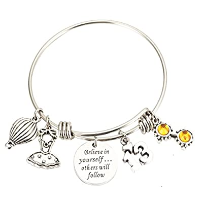 nice Birthday Bracelet Birthday Gifts13th Sweet 16 18th 21st Believe in Yourself inspiration Bracelet for cheap